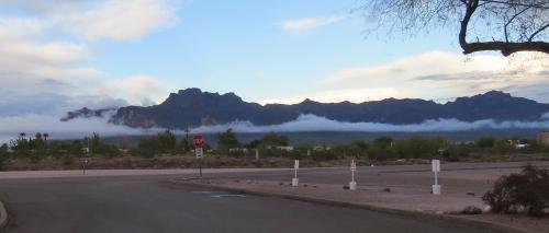 mist on superstition mountain