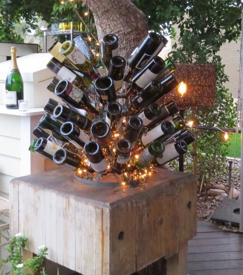 wine bottles the house