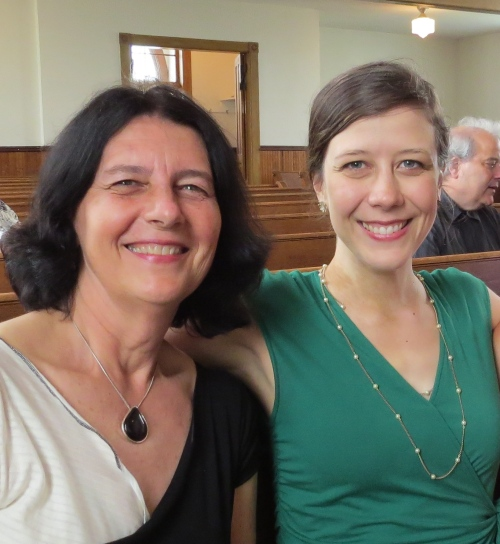 Here I am with the Amy Sonnichsen's sister last summer at a wedding we both attended in Minneapolis