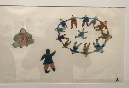 children dancing to a whaler's jig elisapee ishulutaq