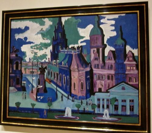 View Of Dresden :Schlossplatz by Ernst Kirchner - Collection of the Minneapolis Art Institute