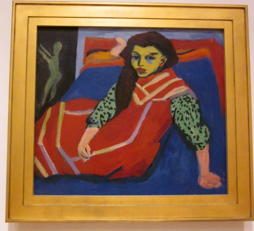 Seated Girl- Ernst Ludwig Kirchner -1910- Collection of the Minneapolis Art Institute