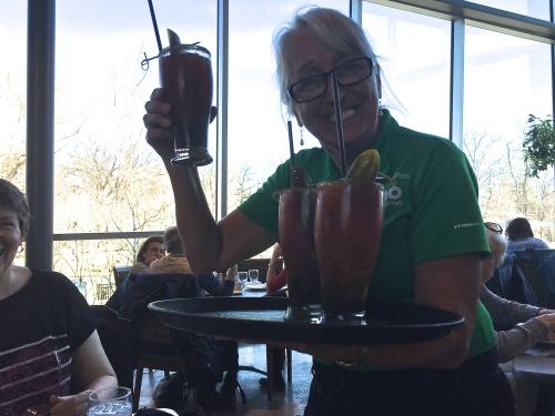 waitress at Qualico Centre assiniboine park