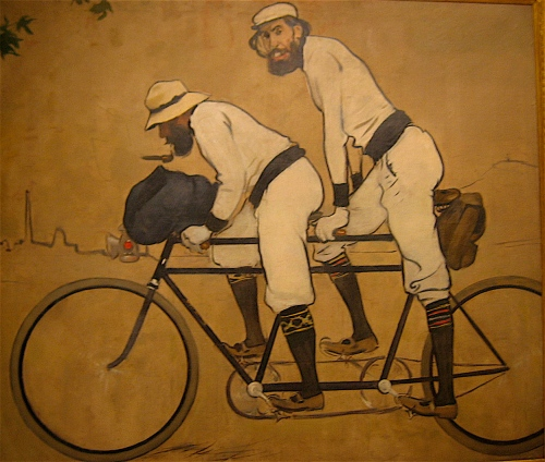Ramon Casas and Pere Romeu on a Tandem  by Ramon Casas at the National Art Museum of Catalonia in Barcelona.