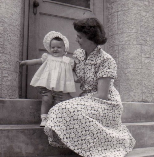 me and mom 1954