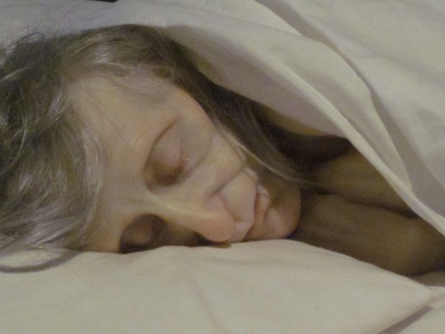 mueck old woman in bed