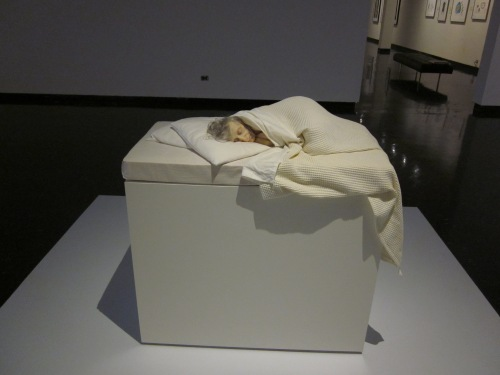 old woman in bed mueck
