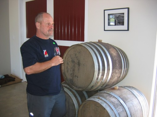 dave at winery in new zeland