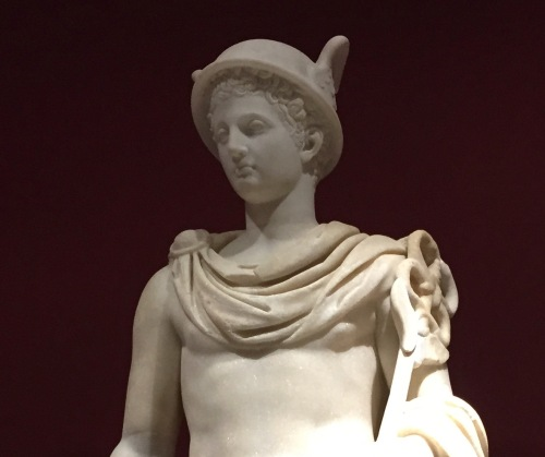 Hermes statue- Olympus exhibit Winnipeg Art Gallery