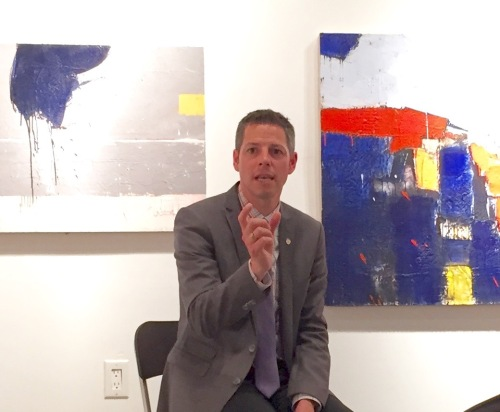 Mayor Brian Bowman met with members of the Resident's Association of the Exchange District at the  Gurevich Art Gallery