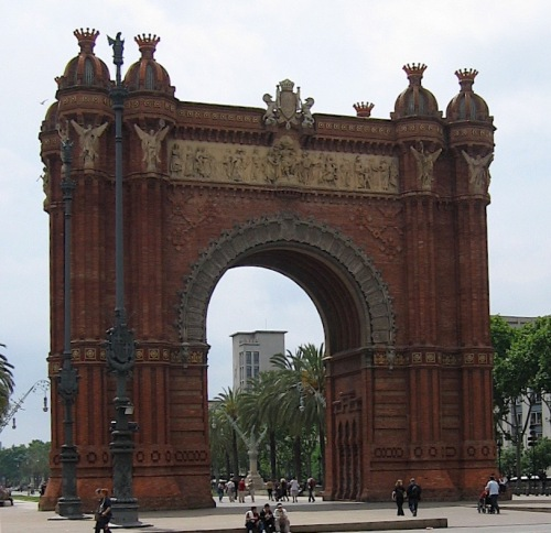 Arc de Triomf photographed in Barcelona