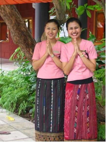These women welcomed us to the JIm Thompson house