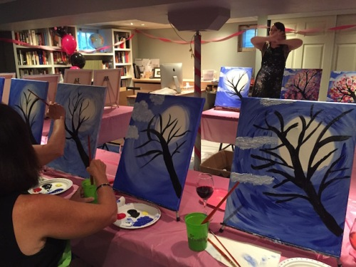 adding trees to the canvas