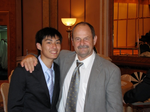 Dave and Ivan at a graduation banquet in 2009