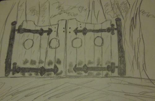 gate sketch