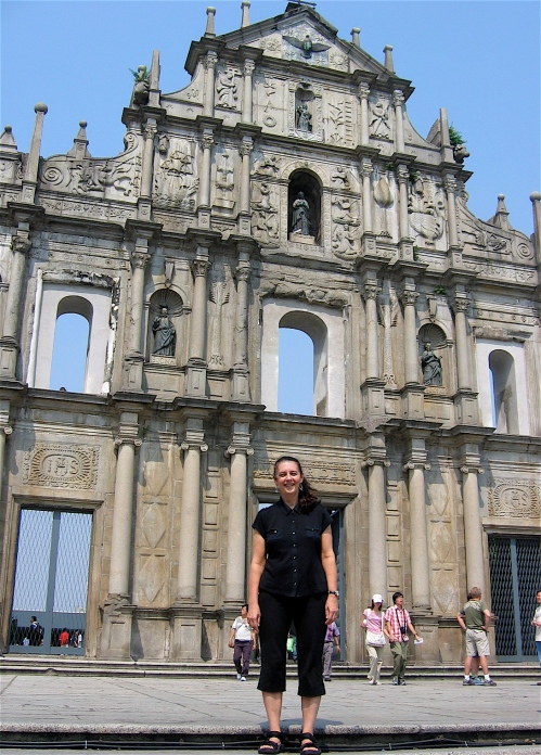 church facade in macau
