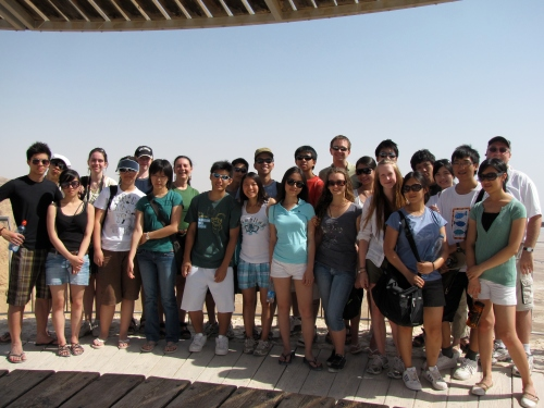 Our tour group in Israel- I am in the back row and Ivan is just in front of me in the green shirt and shades