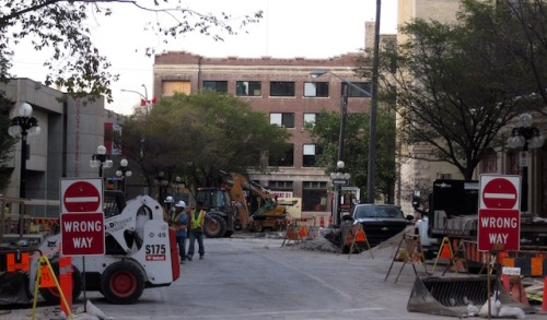 rorie street construction winnipeg fall 2015