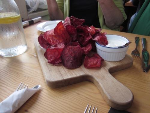 sea salt beet chips