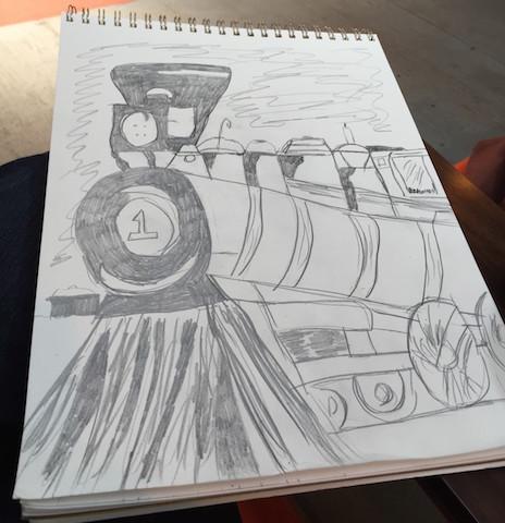 sketch countess of dufferin train