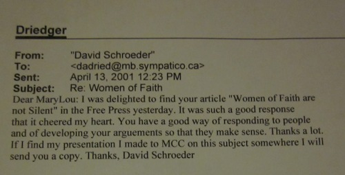 e-mail from doc schroeder