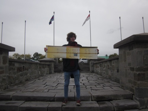 guide at the citadel in quebec city