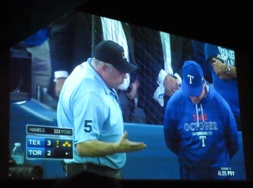 umpire blue jays texas game