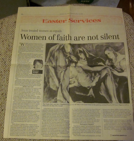 women of faith are not silent