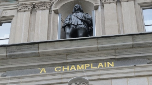 champlain on legislature building quebec