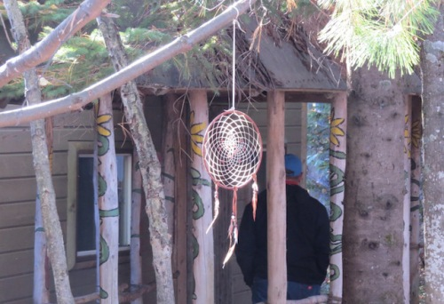 Dream Catcher at a Wendat village near Quebec City