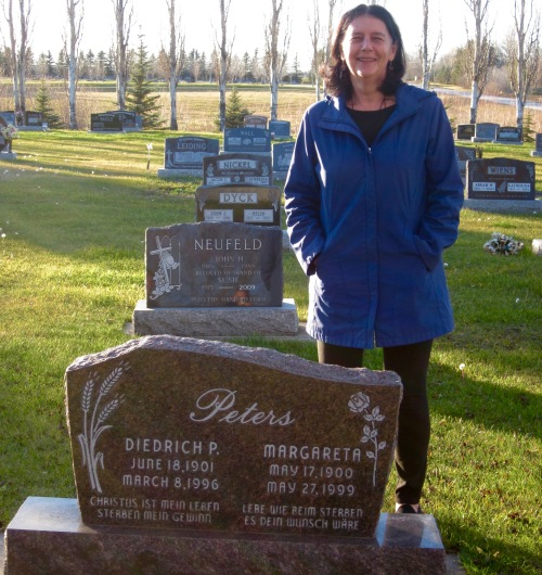 grandparents' tombstone