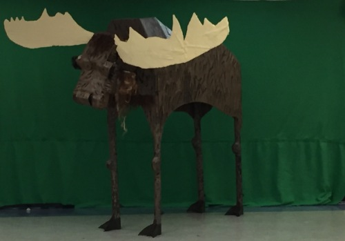 paper and cardboard moose