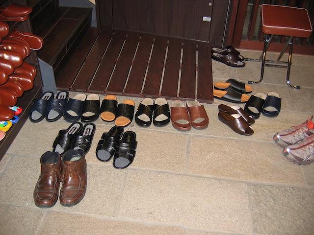 shoes at front door of ryokan