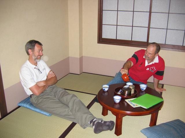 tea in a ryokan in kyoto