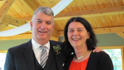 Mark and me Amanda's wedding