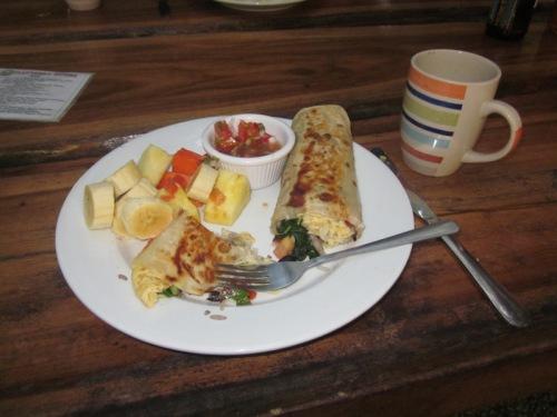 Great Flutterby breakfast with lots of fruit