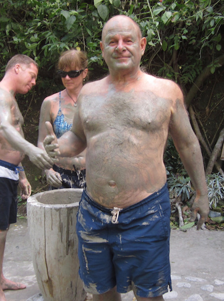dave covered in mud