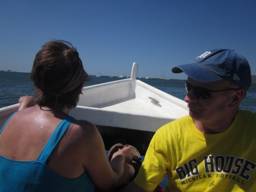 paul and shirley on boat