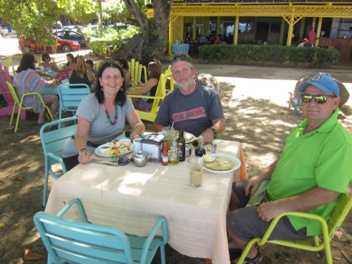 Birthday brunch on the beach with my brother Ken who is heading off to travel to other parts of Costa Rica