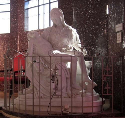 Pieta in the Iglesia de Santa Maria in Tamarindo