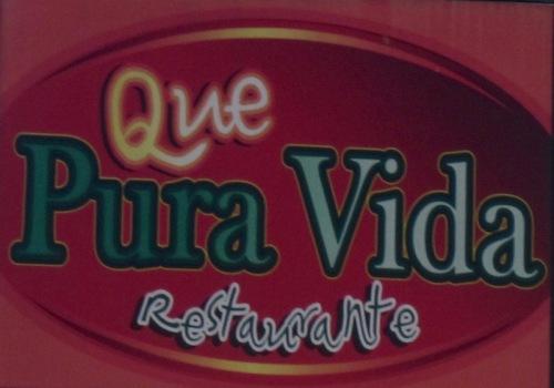 Pura Vida restaurant in Uvita