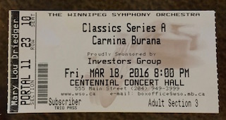 carmina burana ticket
