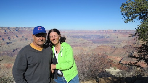 dave and marylou at the grand canyon