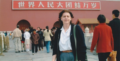 marylou in tiananmen square