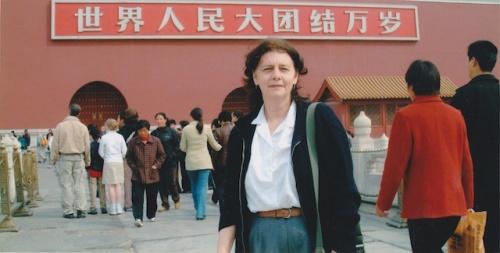 marylou in tiananmen square