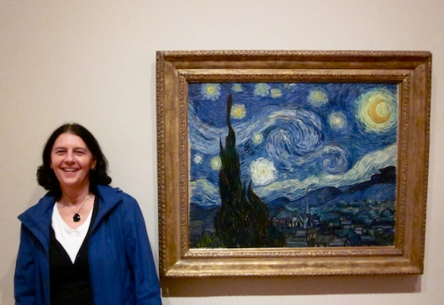 With Starry NIght at the Museum of Modern Art