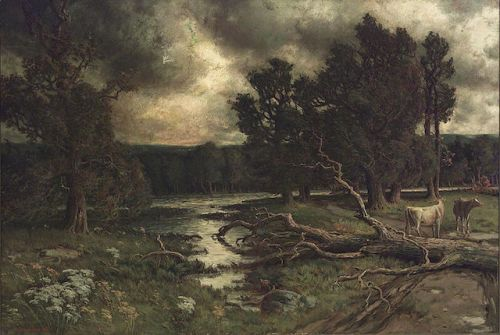 Homer Watson Near the Close of a Stormy Day public domain