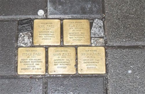stumbling stones in frankfurt