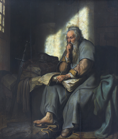 the apostle paul in prison by rembrandt public domain