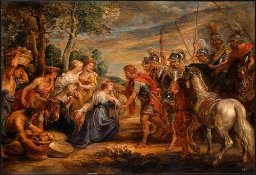 the meeting of david and abigail peter paul rubens
